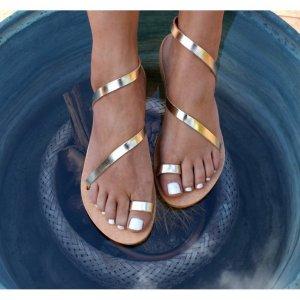 Sandale Dama Grecesti Esmeralda Aurii