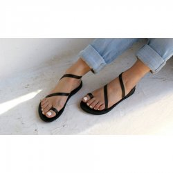 Sandale Dama Grecesti Esmeralda Negre