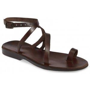 Sandale Romane de Dama Maro Deget cu Catarama Glezna