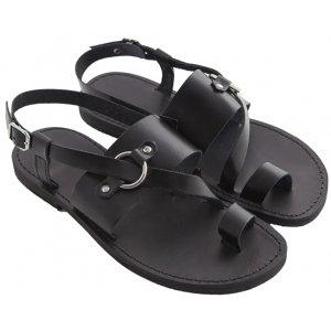 Sandale Barbatesti Piele Alvaro Negre