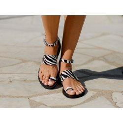 Sandale Dama Piele Grecesti Zebra