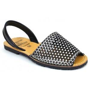 Sandale Joase de Dama din Piele Avarca Negre Aero