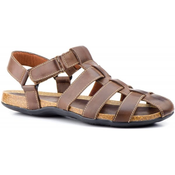 Sandale din Piele ptr Barbati Pepe Agullo Spania Maro