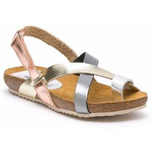 Sandale Dama Spania Comod Piele Argintii