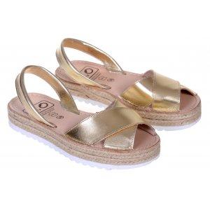 Sandale Dama Piele Avarca Gold
