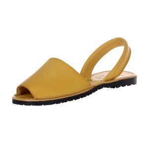 Sandale Piele Dama Avarca Galbene
