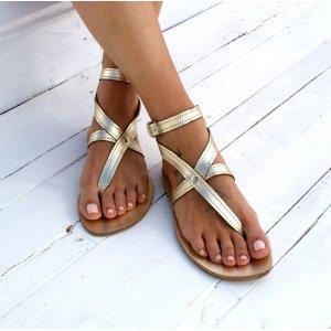 Sandale Grecesti Gladly Aurii