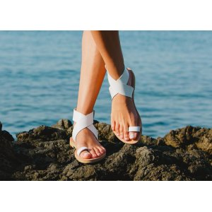 Sandale Grecesti Afrodita Mireasa Albe