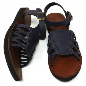 Sandale Dama Africa Alaluna Bleumarin din Piele