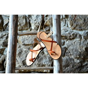 Sandale Dama Model Traveller Piele Naturala Portocaliu - Curele Complet Ajustabile