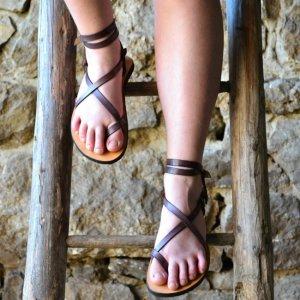 Sandale Dama Model Traveller Piele Naturala Violet - Curele Complet Ajustabile