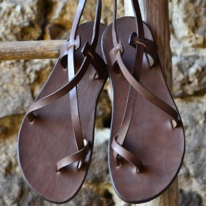 Sandale Dama Model Traveller Piele Naturala Maro - Curele Complet Ajustabile