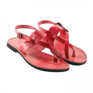 Sandale Romane de Dama Model Perla Rosu