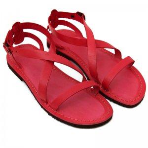 Sandale Romane de Dama Model Carlia Rosu