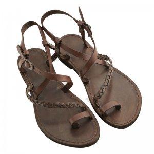 Sandale Romane de Dama Model Vera Chocolate