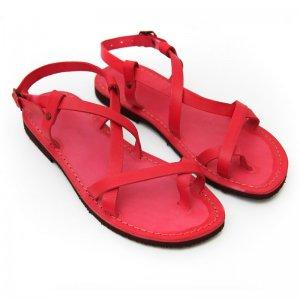 Sandale Romane de Dama Model Betina Rosu
