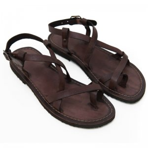 Sandale Romane de Dama Model Betina Chocolate