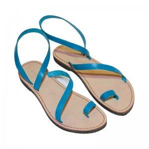 Sandale Romane de Dama Model Love Albastru Azur