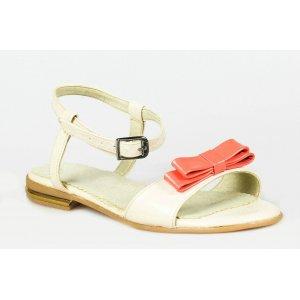 Sandale piele naturala Model Alice Alb Coral - sau Orice Culoare