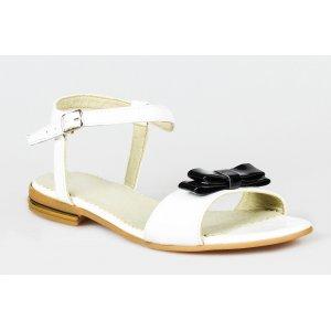 Sandale piele naturala Model Alice Alb Negru - sau Orice Culoare