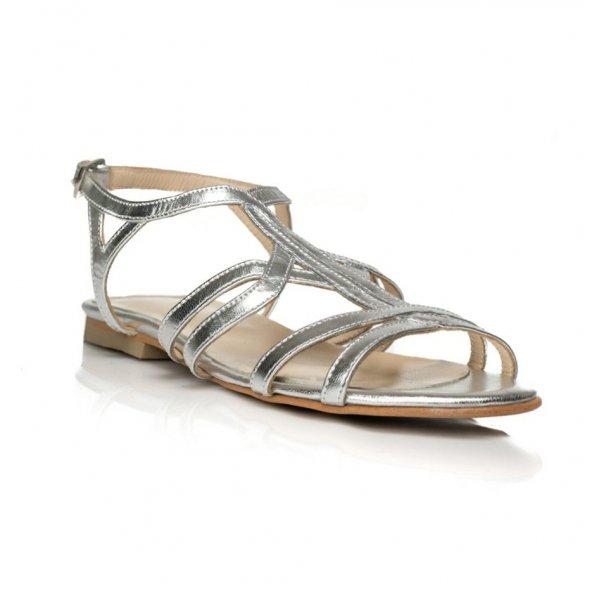 Sandale piele naturala Model A4 Argintiu - sau Orice Culoare