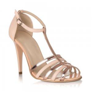 Sandale piele naturala R50-10 Nude Auriu - sau Orice Culoare