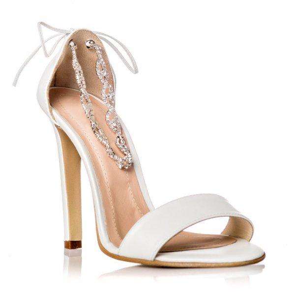 Sandale piele naturala tip D'Orsay SN-10 Alb - sau Orice Culoare