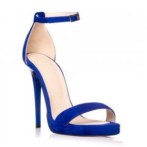 Sandale piele naturala intoarsa TN-10 Albastru - sau Orice Culoare