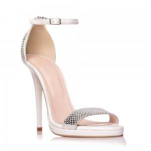 Sandale piele naturala TN-10 Alb Argintiu - sau Orice Culoare
