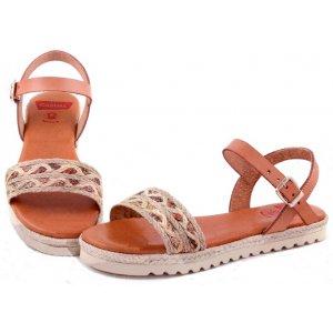 Sandale Platforma Dama Piele Casual Etno