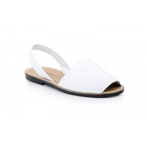 Sandale Dama Avarca C Cortuno Menorquinas Albe din Piele