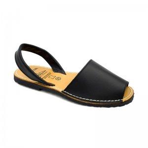 Sandale Dama Avarca Negre din Piele