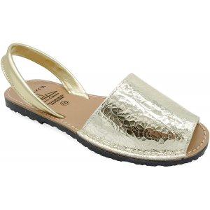 Sandale Dama Piele Avarca Eldorado Aurii