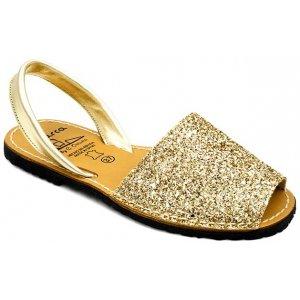 Sandale Dama Avarca C Cortuno Menorquinas Aurii Glitter din Piele