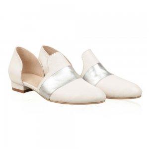 Balerini piele naturala Vera Alb - sau Orice Culoare