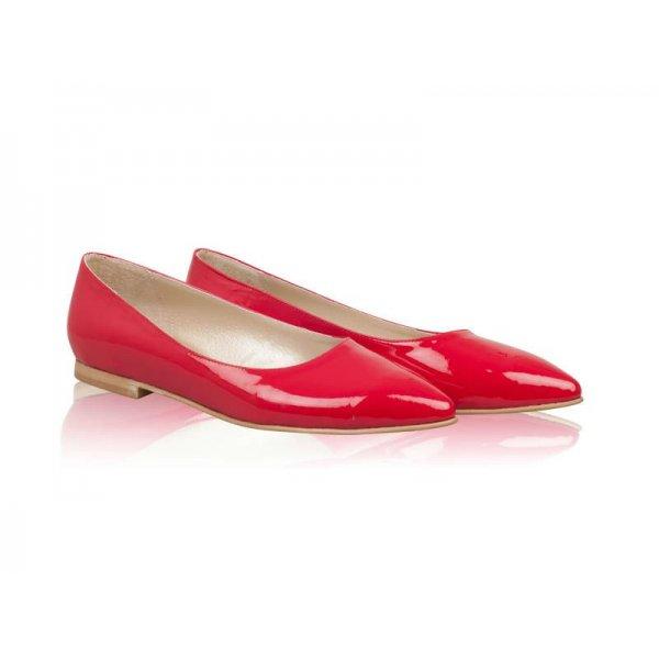 Balerini piele lacuita Scarlet Rosu - sau Orice Culoare