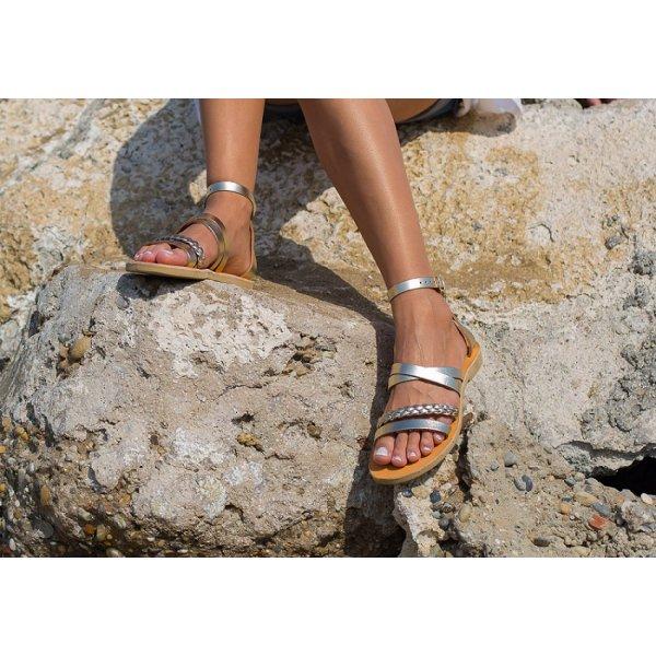 Sandale Dama Grecesti Hadria Impletite Aurii
