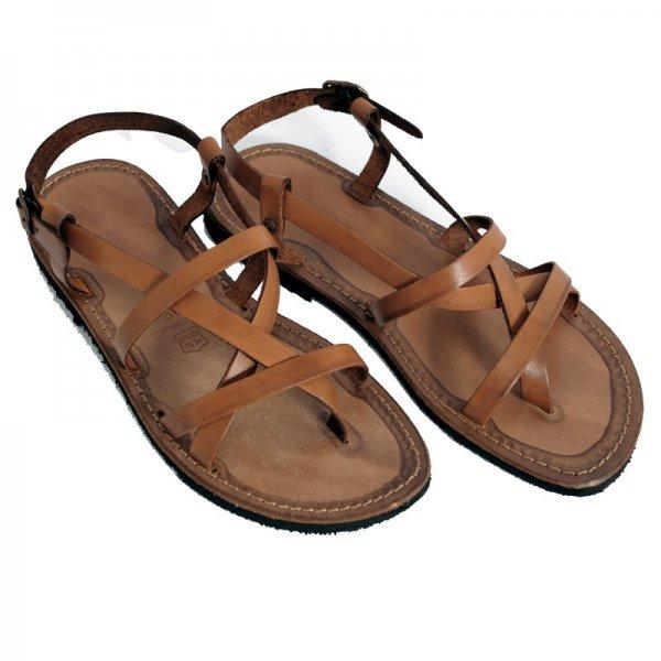 Sandale din Piele ptr Barbati Coniac Italia Umberto