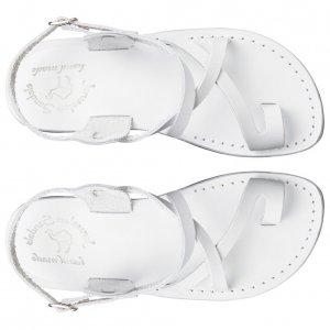 Sandale Piele Naturala Deget Albe