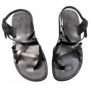 Sandale Romane Piele Naturala Summer Negre