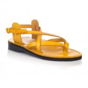 Sandale Piele Naturala V Galbene