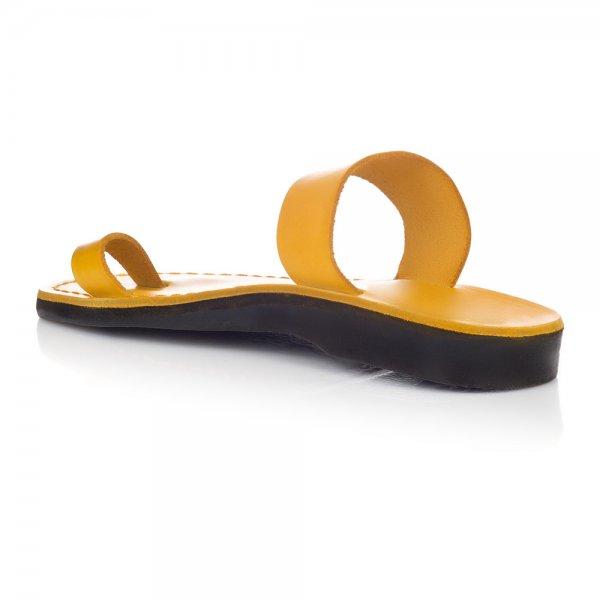 Sandale Piele Naturala Minimal Galbene