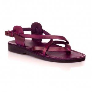 Sandale Piele Naturala V Violet