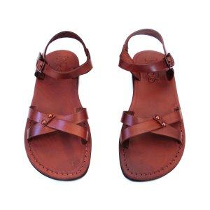 Sandale Dama Artemis Piele Naturala Maro