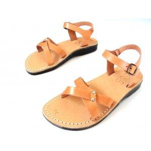 Sandale Piele Naturala Artemis Dama Caramel