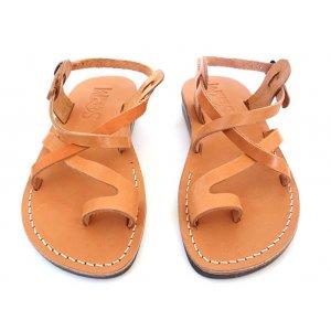 Sandale Piele Naturala Deget Camel