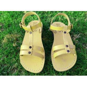 Sandale Piele Naturala Galbene Magdalena