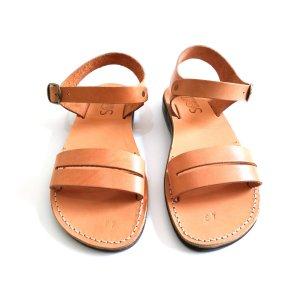Sandale Piele Naturala Gladiator Paralel Camel