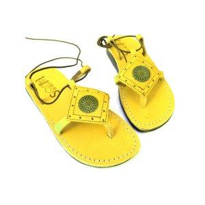 Sandale AzteK Sun Dama Piele Naturala Galbene