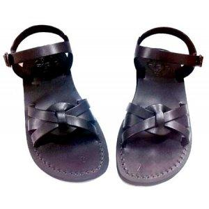 Sandale Dama din Piele Naturala Maria X Negre